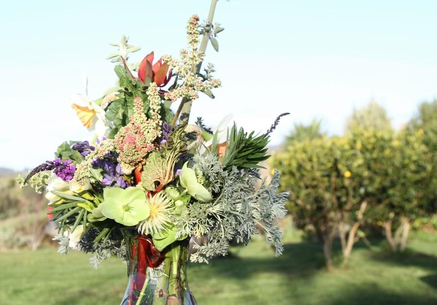 Rhubarb Flower Vase