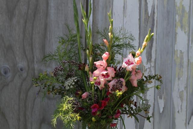 gladiolus cut flowers sweet peas