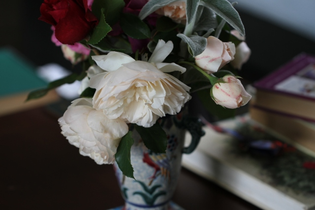 lichfield angel roses in a vase