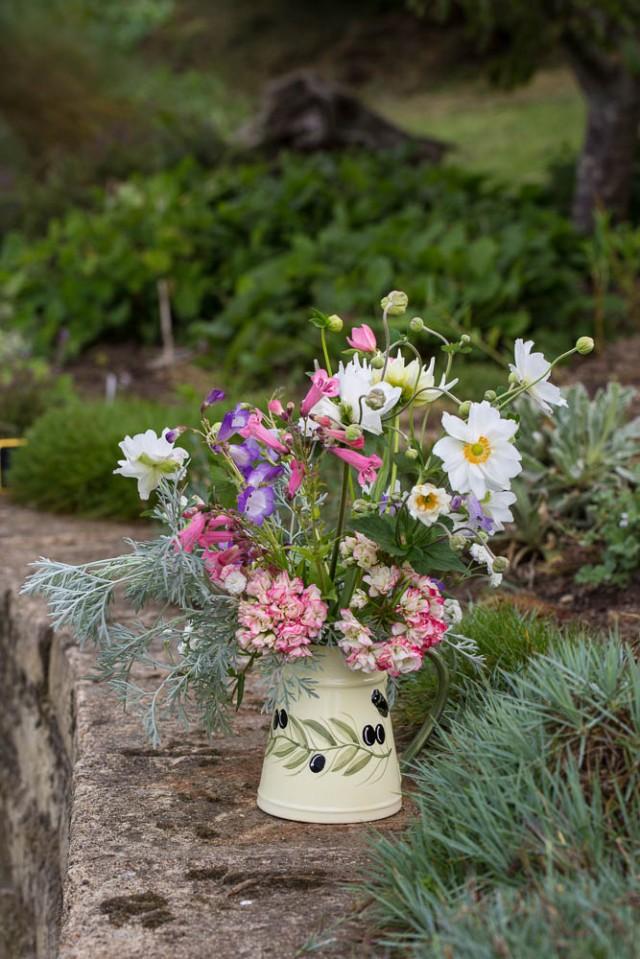 vase of flowers anemones