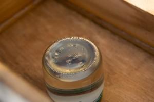 sugar water in beehive