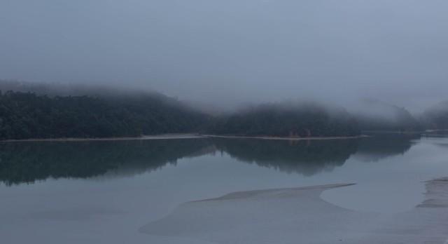 mist over islands