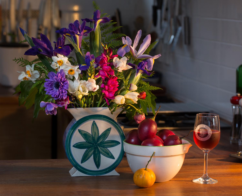 cut flowers iris anemone ixia freesia